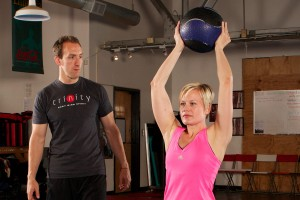 Nathan Nowak training at Trinity Fitness in Atlanta Georgia
